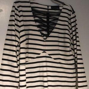 Eloquii Striped Dress